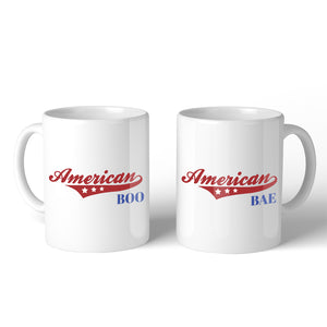American Boo Bae 11oz Matching Couple Gift Mugs Couple Gift Set