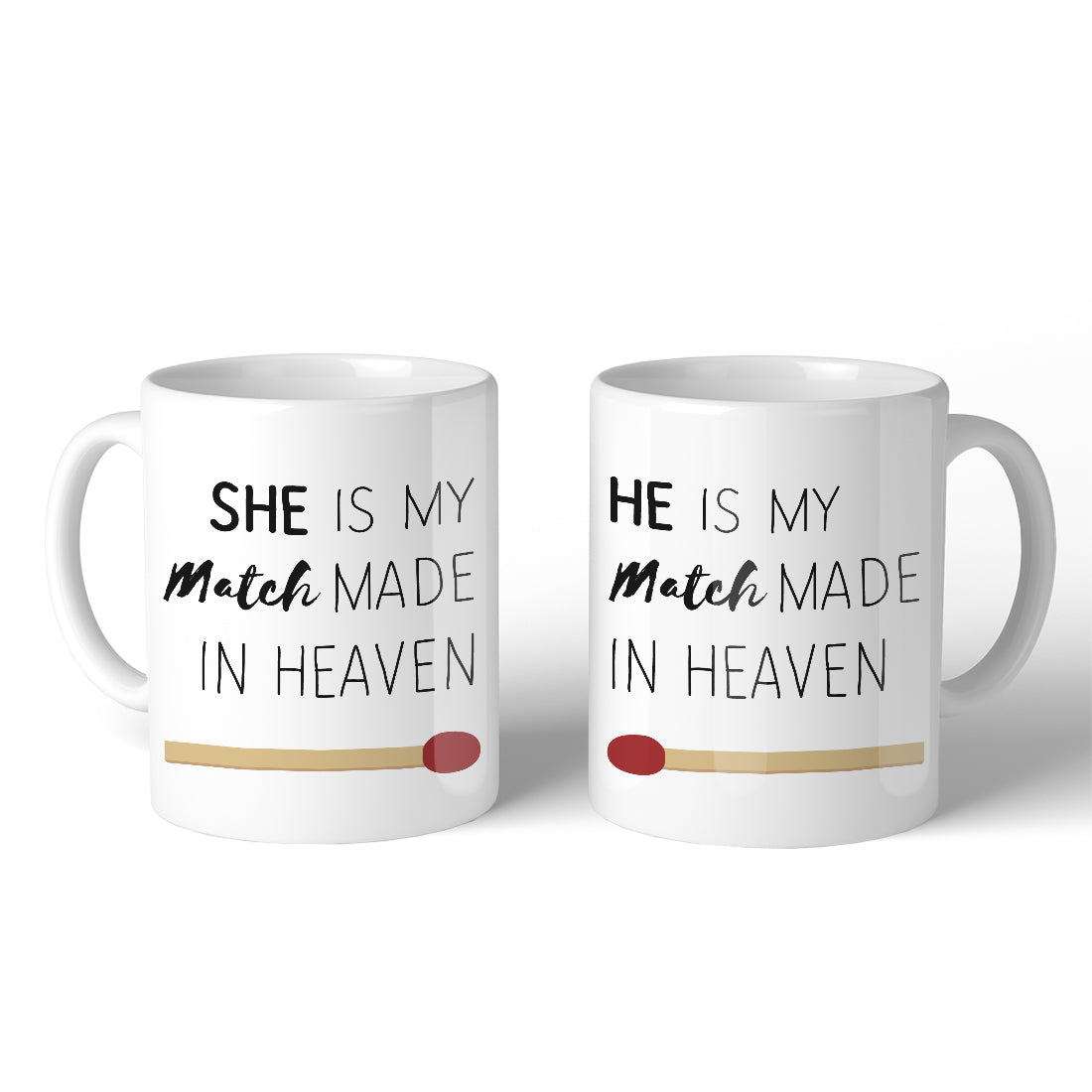 Match Made In Heaven 11oz Cute Matching Mugs Funny Couple Gifts 365 In Love Matching Gifts Ideas