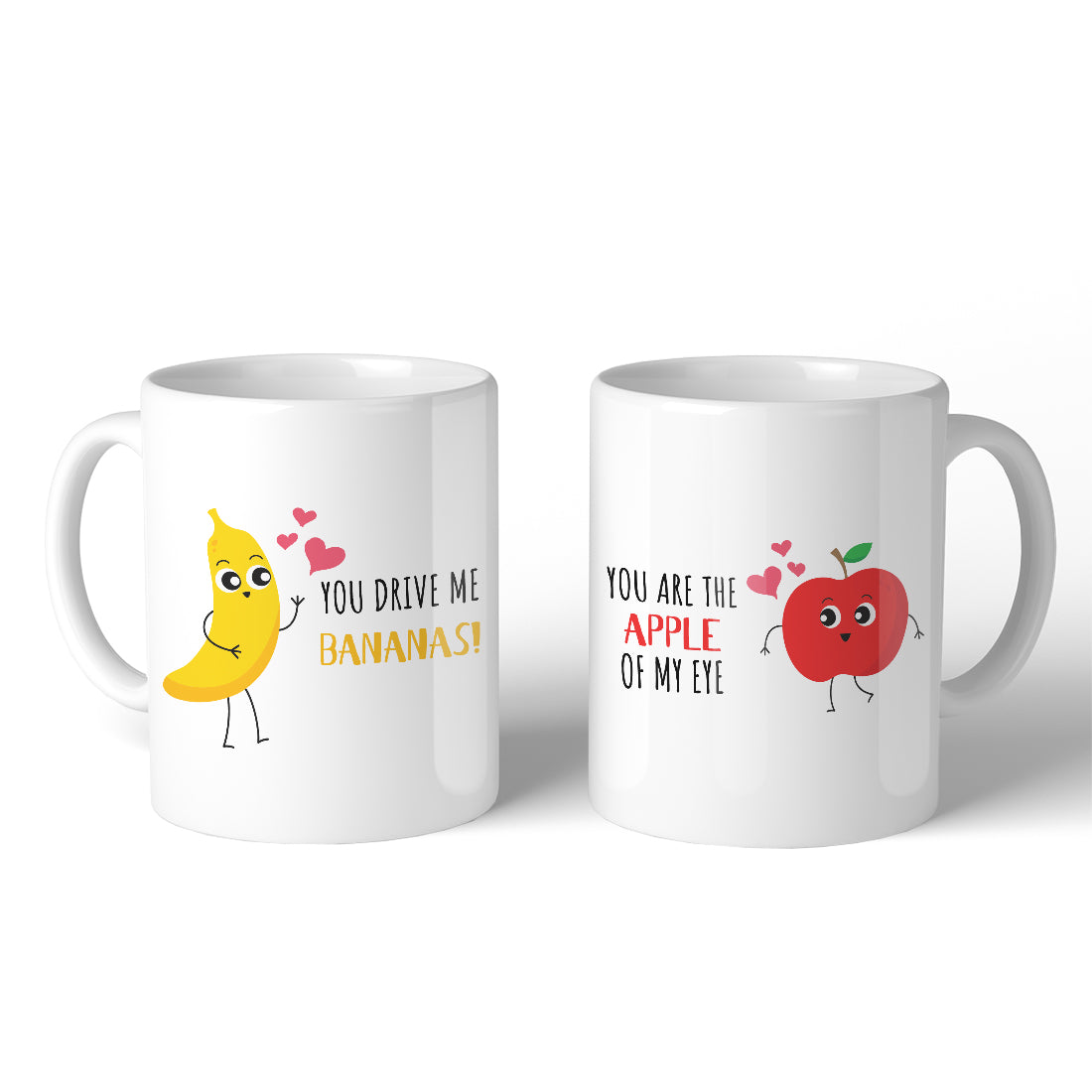 Drive Me Bananas Apple Eye Matching Couple Mugs For Wedding Gifts 365 In Love Matching Gifts Ideas