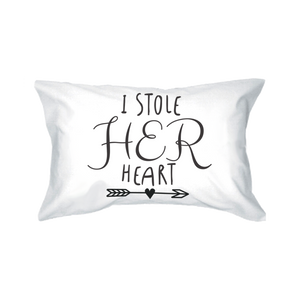 stealing hearts romantic pillowcase set