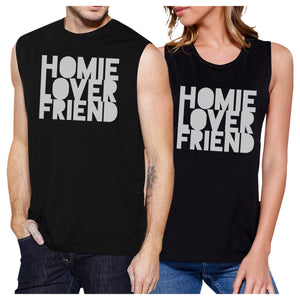 Homie Lover Friend Matching Couple Black Muscle Top