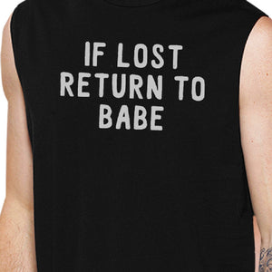 If Lost Return To Babe And I Am Babe Matching Couple Black Muscle Top