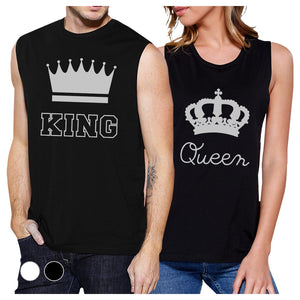 King And Queen Couples Muscle Tank Tops For Couples Gifts