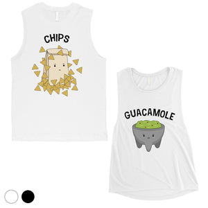 Chips & Guacamole Matching Muscle Tank Tops Funny Wedding Gift