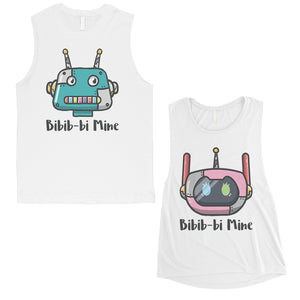 Bibib-bi Mine Couples Matching Muscle Tank Tops Anniversary Gift