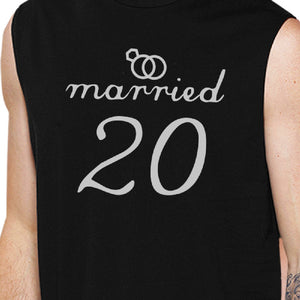Married Since Custom Matching Couple Black Muscle Top