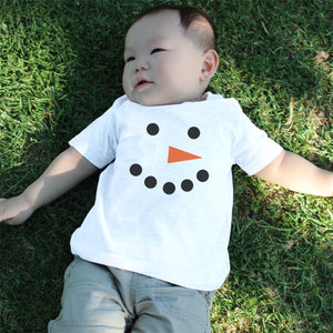 Graphic Snap-on Style Baby Tee, Infant Tee - Snowman - 365INLOVE