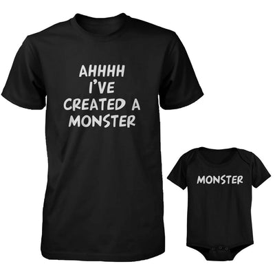 85e356a6 Daddy and Baby Matching Black T-Shirt / Bodysuit Combo - I've Created - 365  IN LOVE - Matching Gifts Ideas