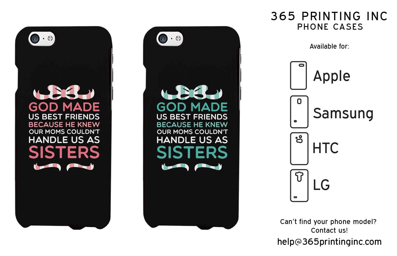 eba9c54984 God Made Us Cute BFF Mathing Phone Cases For Best Friends Great Gift Idea -  365INLOVE