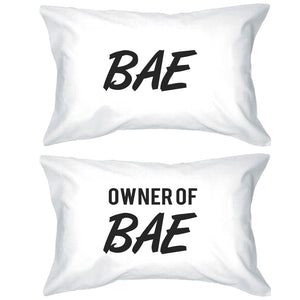 Bae And Owner Of Bae Matching Couple White Pillowcases