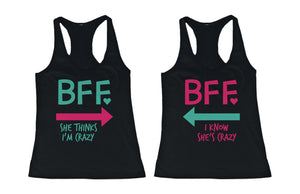 Cute MINT & PINK Best Friend Tank Tops - Matching BFF Tanks - 365INLOVE