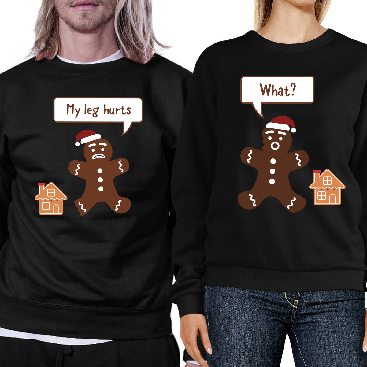 d66da5c03b Christmas Gingerbread Couple Sweatshirts Holiday Matching Tops - 365 ...