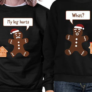 Christmas Gingerbread Couple Sweatshirts Holiday Matching Tops - 365INLOVE