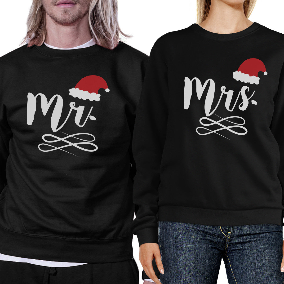 Mr And Mrs Christmas Couple Sweatshirts Holiday Gifts For Couples ...