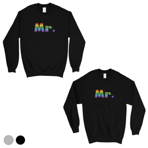 LGBT Mr. Mr. Rainbow Matching Couple SweatShirts
