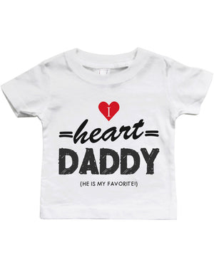 Graphic Snap-on Style Baby Tee, Infant Tee - I Heart Daddy - 365INLOVE