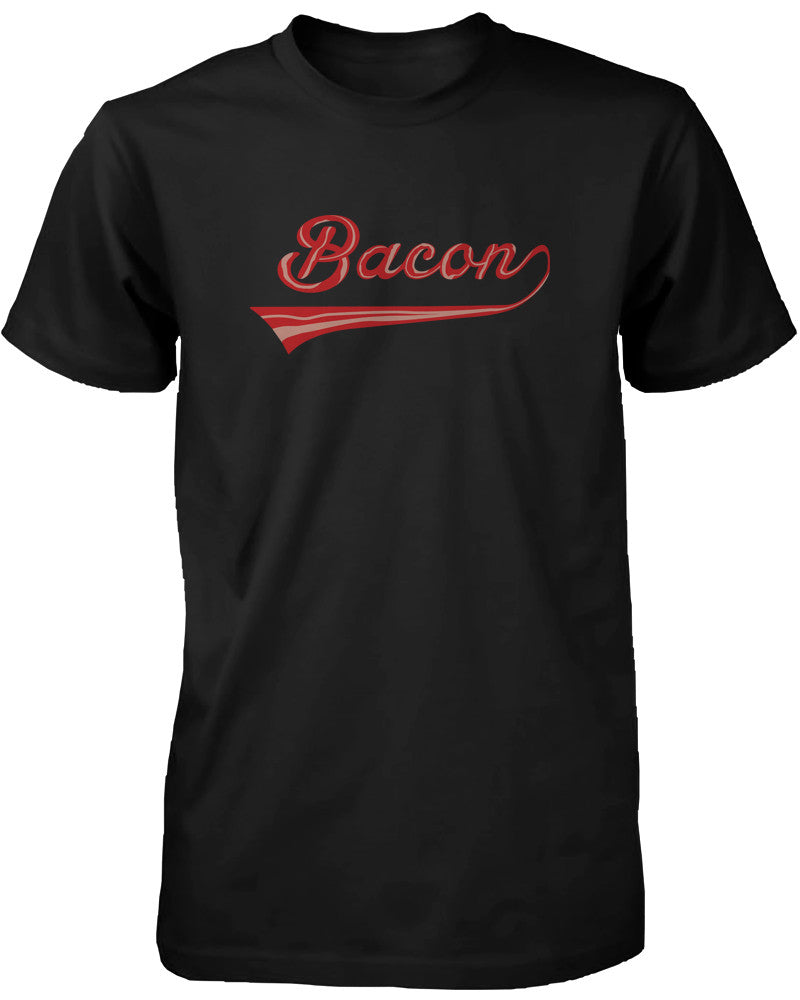 878480b56a Bacon Men's T-shirt for bacon lovers - Graphic Humor Adult Short Sleeve Tee  -