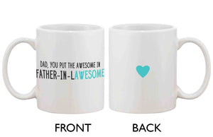 Funny Coffee Mug for Dad - Father-In-Lawesome, Father's Day Mug Cup Gift - 365INLOVE
