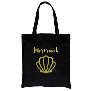 Bride Mermaid Seashell-GOLD Canvas Shoulder Bag Glamorous Nice Gift