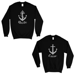 Bride Crew Anchor-SILVER Unisex Crewneck Sweatshirt Playful Cool