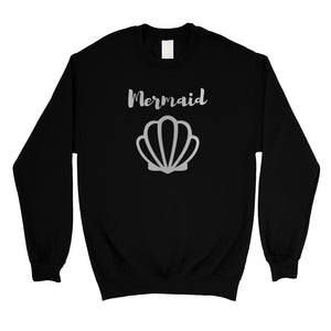 Bride Mermaid Seashell-SILVER Unisex Crewneck Sweatshirt Thoughtful