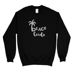 Beach Bride Babe Palm Tree-SILVER Unisex Crewneck Sweatshirt Fresh
