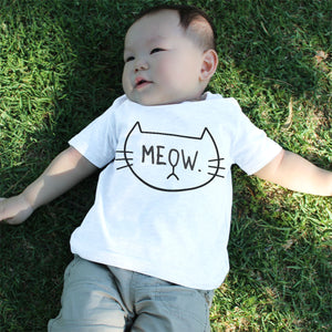 Graphic Snap-on Style Baby Tee, Infant Tee - MEOW - 365INLOVE