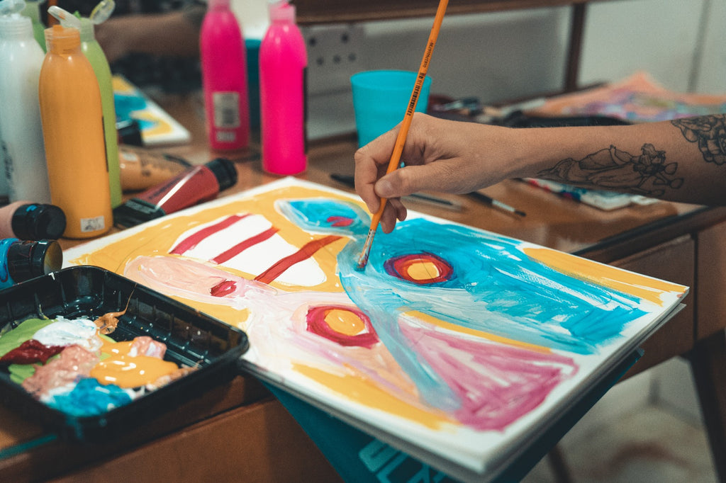 Intuitive Painting session