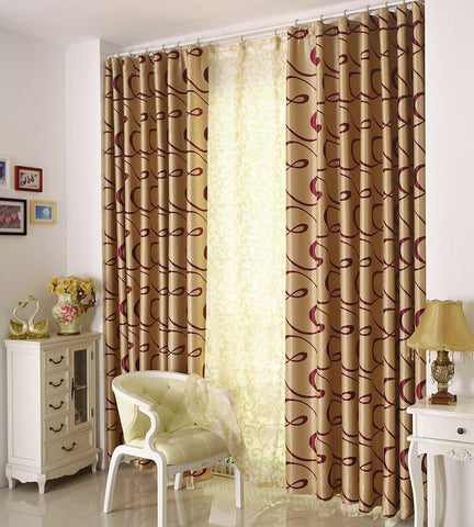 "Airdodo Elegant Solid Champagne Velvet  Grommet top blackout Curtain 60""W x 84""L (One Panel)"