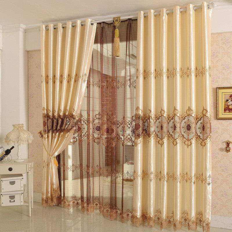 "Airdodo European Style Decorative Embroidered Grommet Top 56""X 95"" Curtain (One Panel)"