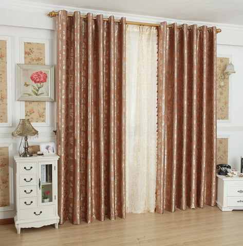 "Airdodo Elegant Saddle Brown Heavyweight Grommet Top Blackout Curtain 60""W x 84""L (One Panel)"