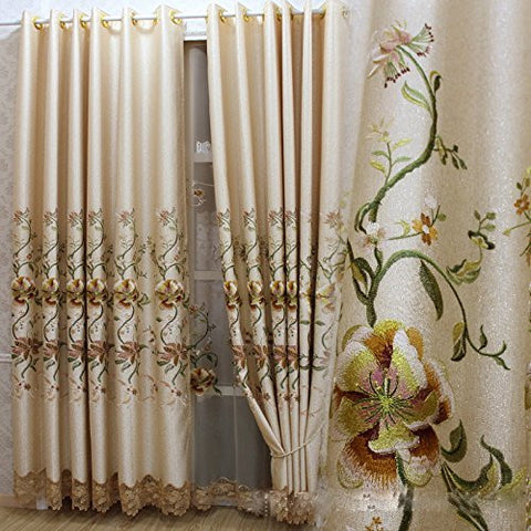 "Airdodo Euro Decorative Grommet Top 56""w X 95"" Curtain (One Panel)"