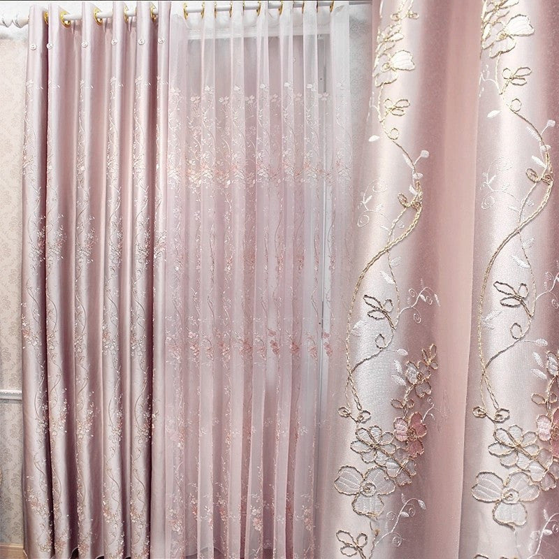 "Airdodo European Style Decorative Grommet Top 56""w X 95""l Curtain (One Panel)"