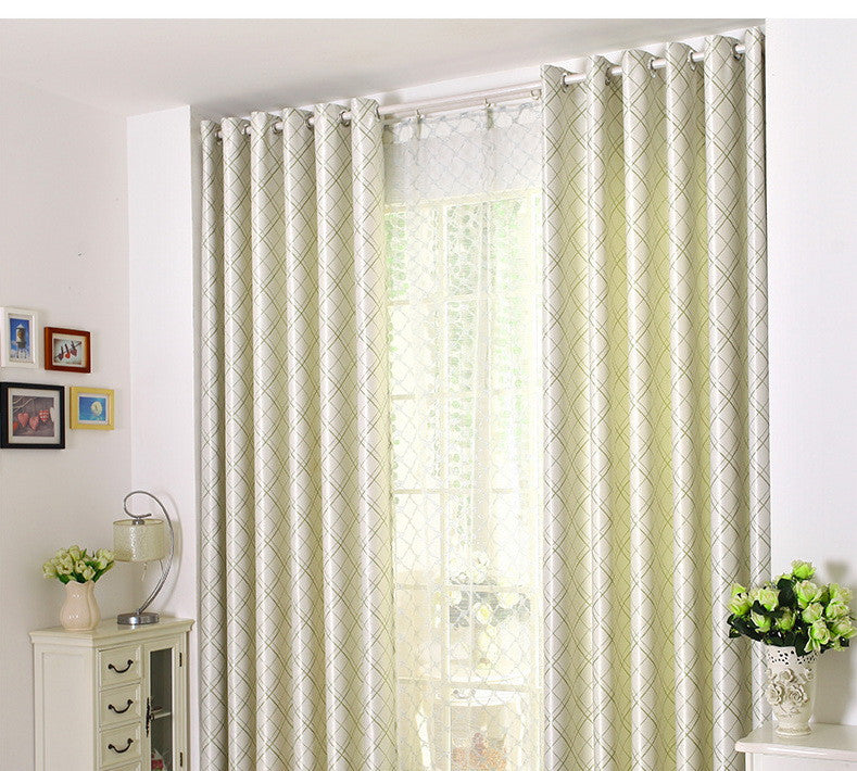 "Airdodo Modern Green intertwine Solid Grommet Top Curtain 60""x 84"" (One Panel)"