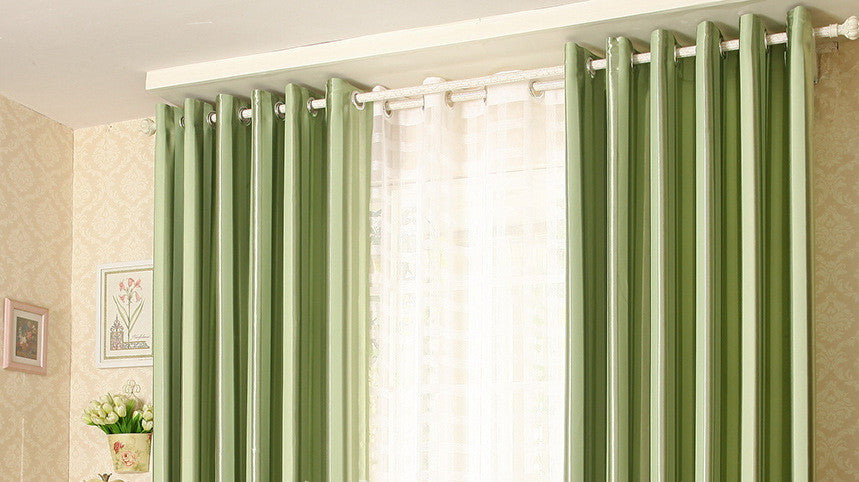 "Airdodo Green Heavyweight Textured Faux Linen Grommet top Curtain 60""x 84"" (One Panel)"