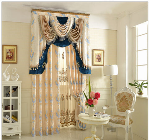 Airdodo  Luxury European Decorative Style Pearl White 70-inch By 84-inch Grommet Top Curtain (One Panel) (No Valance)
