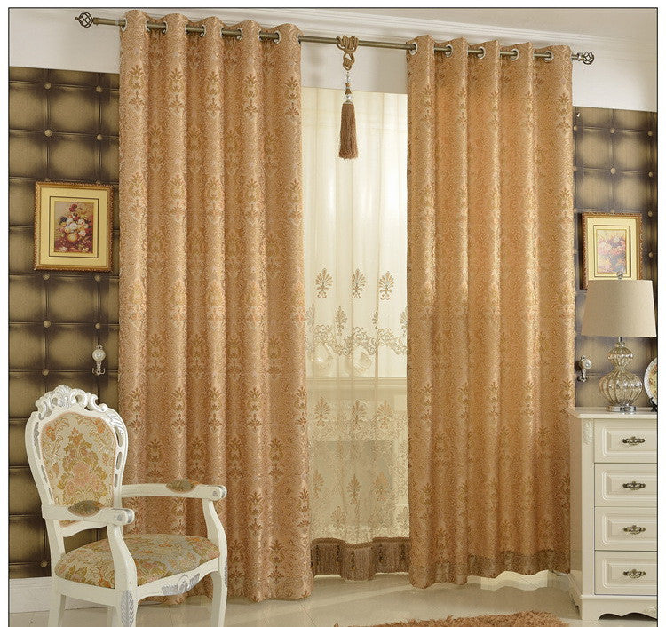 "Airdodo Elegant Almond Blackout Grommet top 70""W x 95""L Jacquard Curtain (One Panel)"