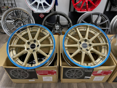 Weds Mavericks 1010S 18x10+23 5x114.3 Samurai Gold