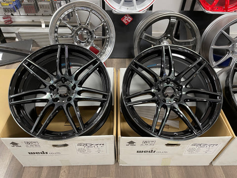 Weds SA77R Weds Black Clear 18x9.5+38 5x114.3