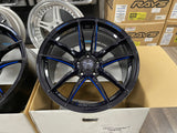 Weds RN55M Black Blue Machine 18x10+36 5x114.3