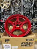 Gramlight 57CR Milano Red 15x8+35 5x114.3