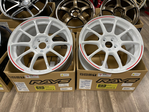 Volk Racing ZE40 RW Limited Edition 18x8.5+43 5x112 Dash White