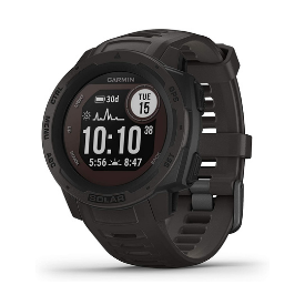 Garmin's solar smartwatch is loaded with features like GPS and Bluetooth connectivity.