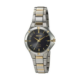 Elegant and stylish, Seiko's two-tone watch is the perfect match for the modern day woman.