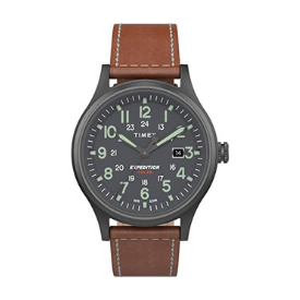 The Timex Men's Expedition Scout watch has a sleek display with luminous glow-in-the-dark hands.
