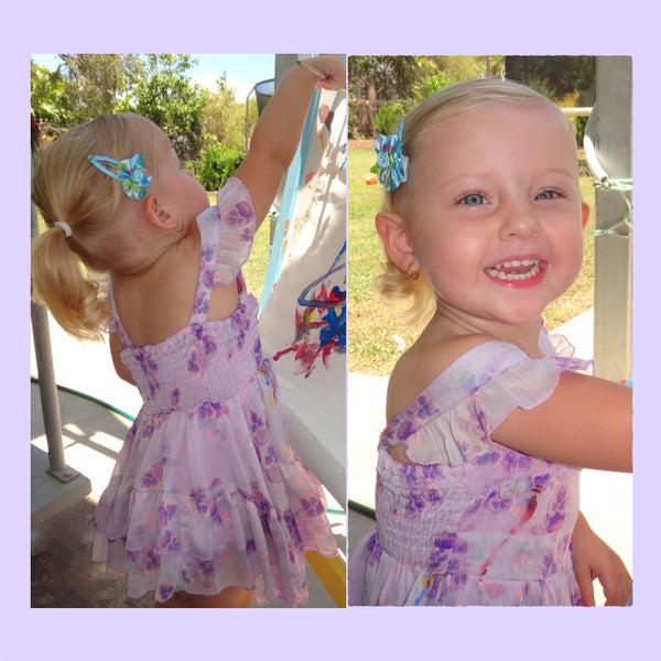 Alyssa Wearing Jayne Snap Hair Clip for Toddlers Girls Hair Accessory