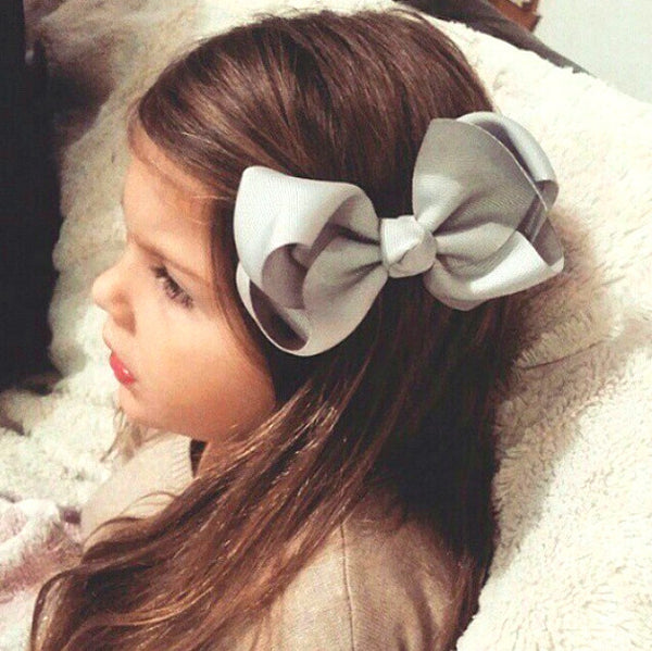 Big bow hair clips for girls hair accessories