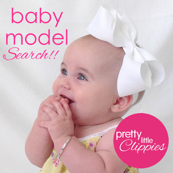 Baby model for baby hair accessories and baby headbands