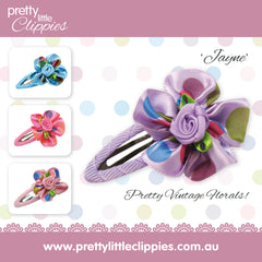 Jayne Flower Hair Clips for Toddlers