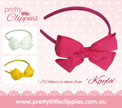 Kayla grosgrain bow girls headband | Girls Hair Accessories